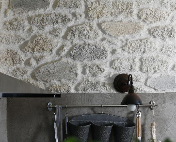 Rénovation mur intérieur en pierre et enduit