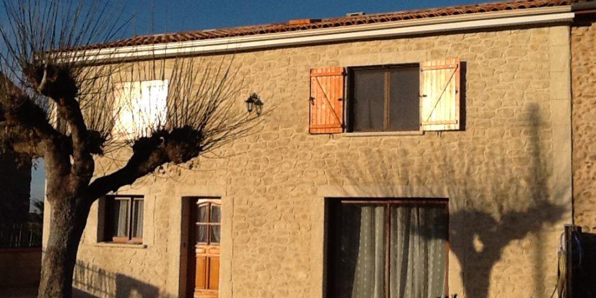 Façade enduit chaux et façon pierres à Pamiers en Ariège (09)