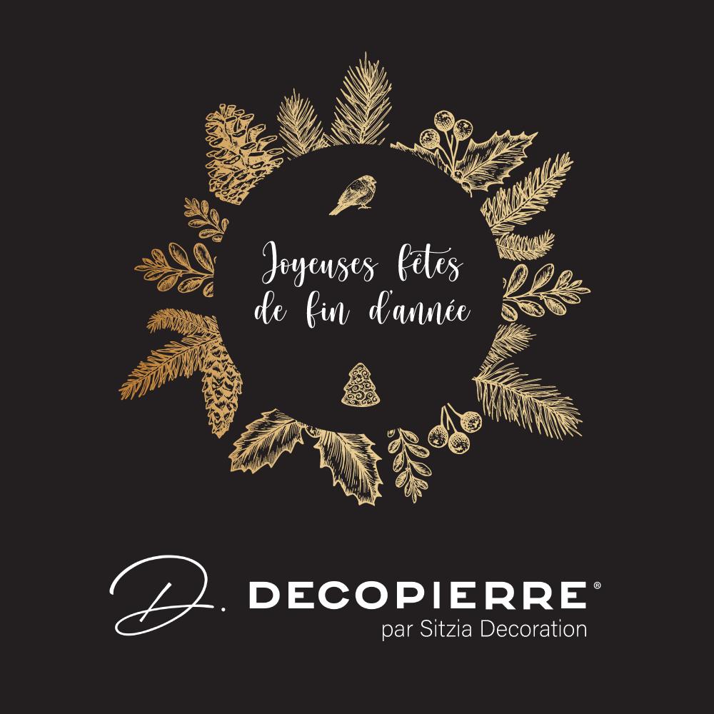 Carte de vœux DECOPIERRE par Sitzia Décoration