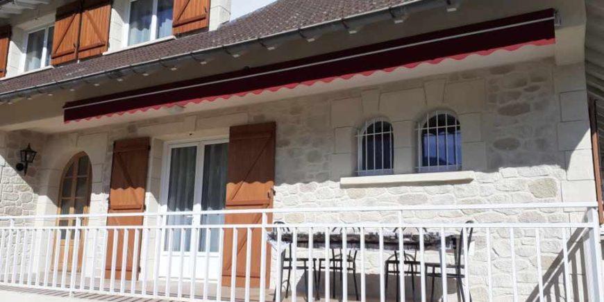 Rénovation de façade imitation pierres en Ariège entre Pamiers et Ax les Thermes (09)