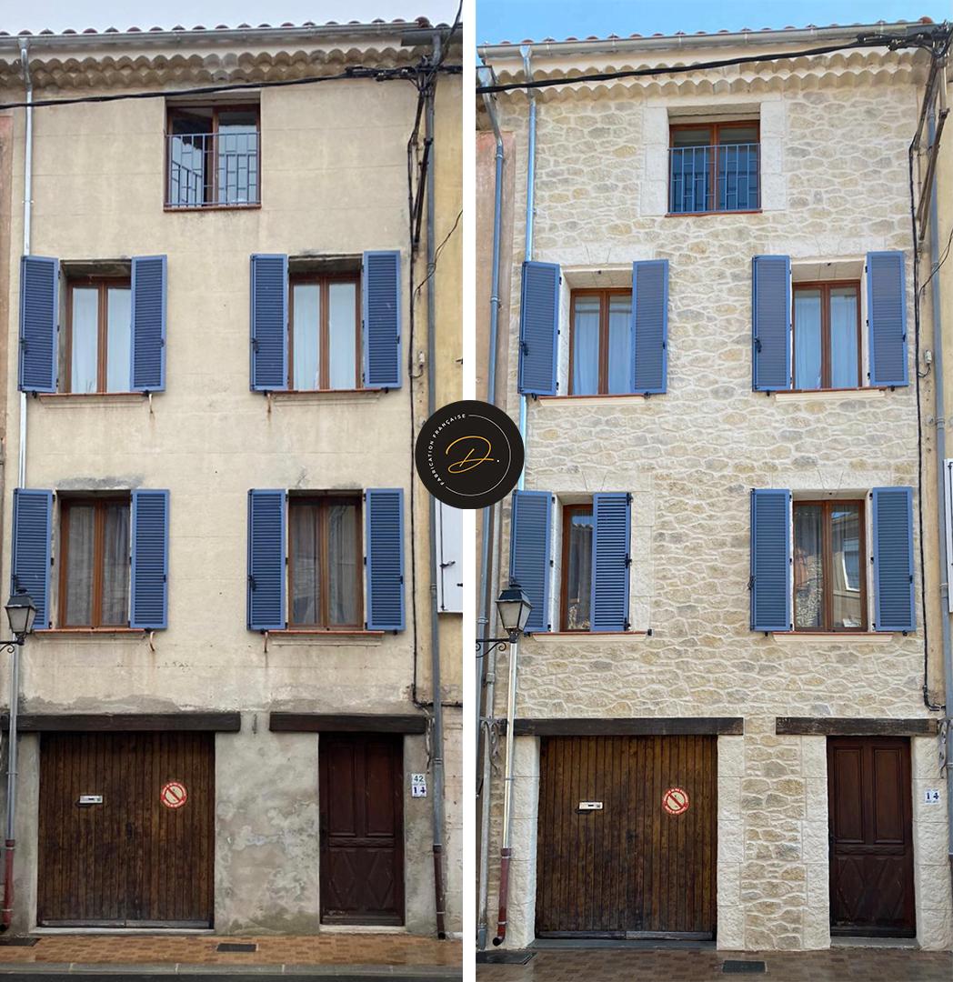 Façade de maison de ville proche de Sainte-Maxime (83)