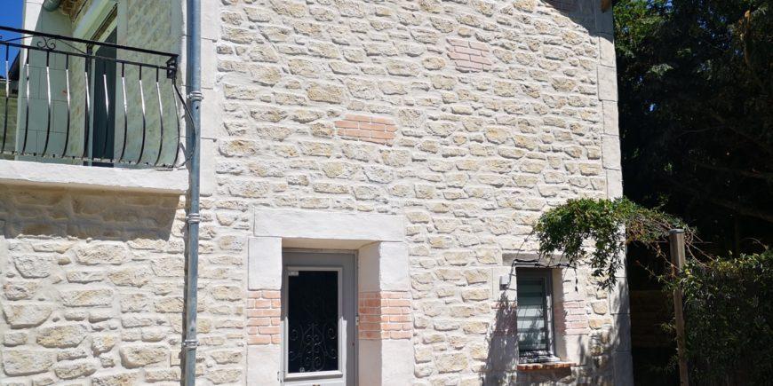 Façade maison effet pierres près de Castres (81)